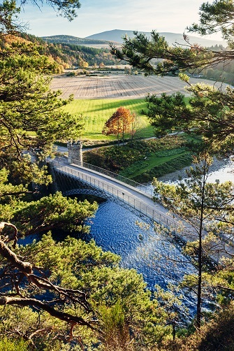 The Telford bridge across the River Spey at Craigellachie in the Moray region of Scotland.