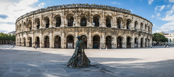 Roman Arena (amphitheater) in Arles, France