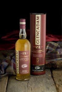 Glencadam Highland single malt, aged 21 years