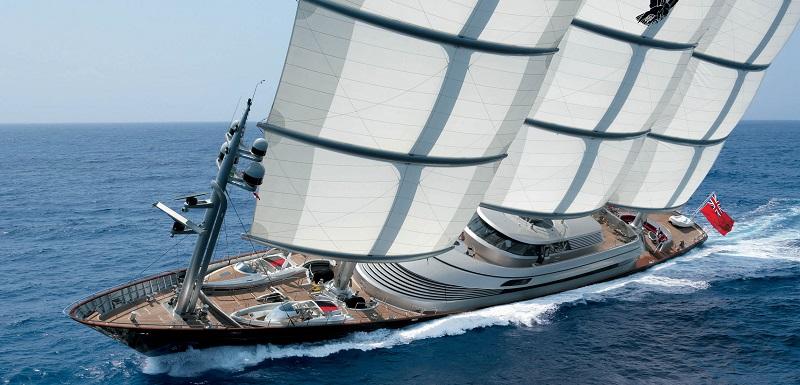 Plack Pearl Superyacht, 100m, DynaRig Sails