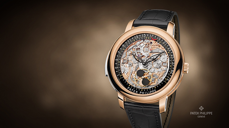 Patek Philippe 5304R-001 Grand Complications Perpetual Calendar Day Month 43mm Skeleton Rose Gold Leather Automatic 2017